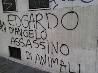 Diverse anche le scritte sui muri contro Edgardo D'Angelo