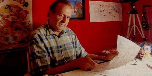 Ecco Romano Scarpa, in una foto della sua piena maturità artistica.