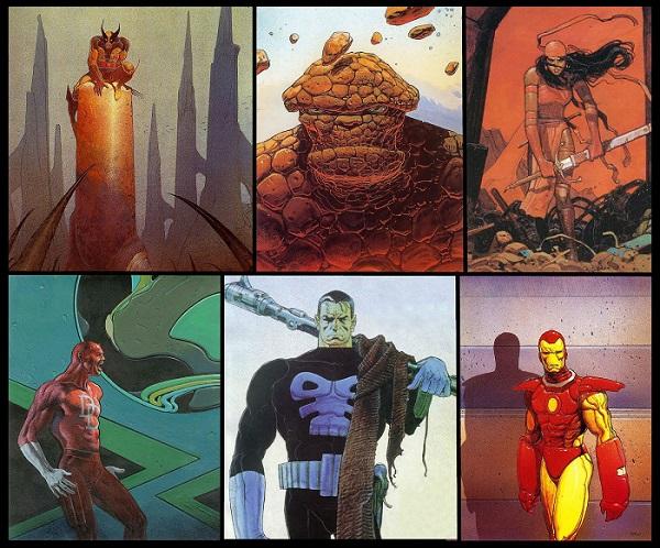 I personaggi dell'universo Marvel secondo lo stile del disegnatore francese