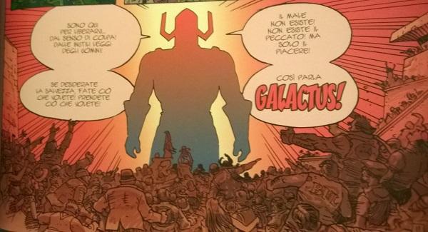 Lo spietato Galactus e la massa adorante di fedeli