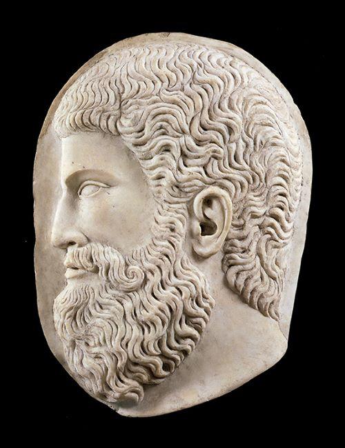 Clipeo marmoreo con ritratto- Milano, coll privata