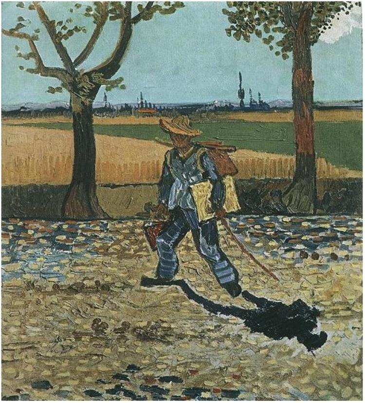 Painter on his way to work di Vincent van Gogh, distrutto durante i bombardamenti del Kaiser Friedrich Museum di Berlino nel 1945.