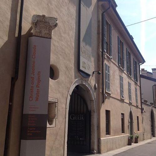L'ingresso al museo di Santa Giulia