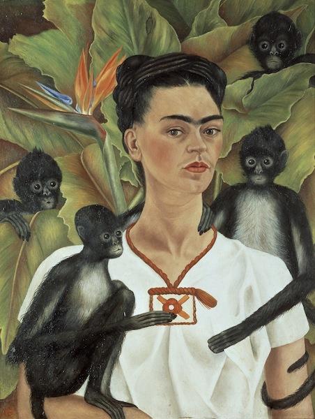 Frida Kahlo - Autoritratto con scimmie bis
