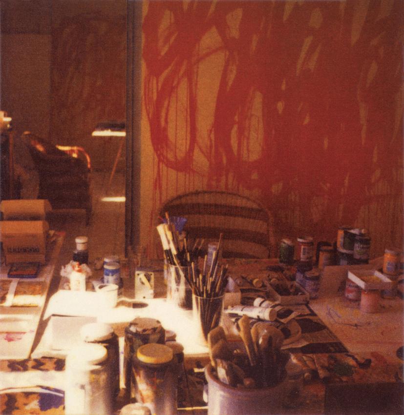 CY TWOMBLY studio, Gaeta 2003