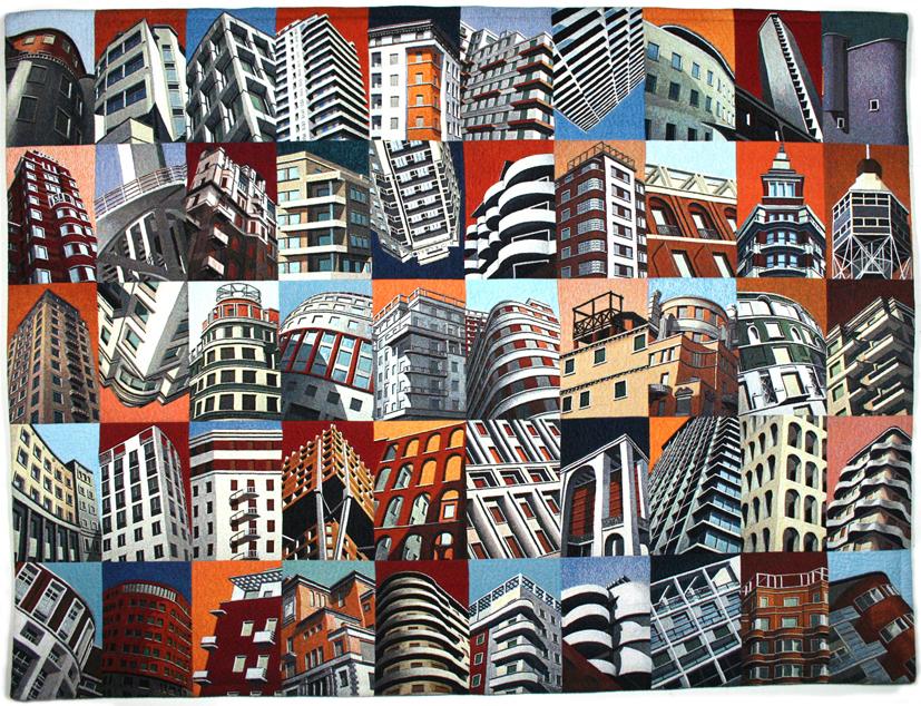 Marco Petrus, Sequenze, 2001, arazzo, 143x190