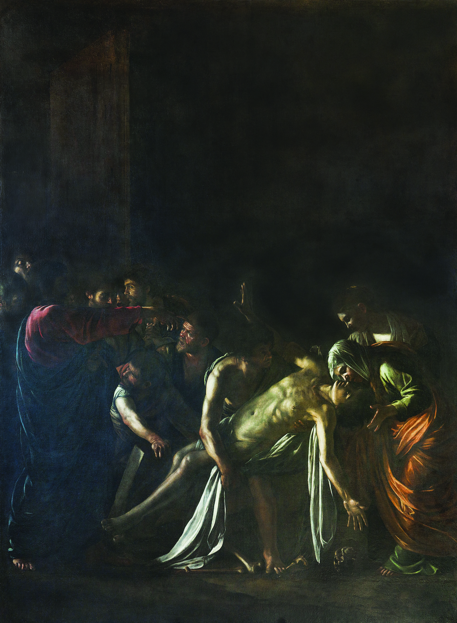 Caravaggio, Resurrezione di Lazzaro, Messina, Museo Regionale