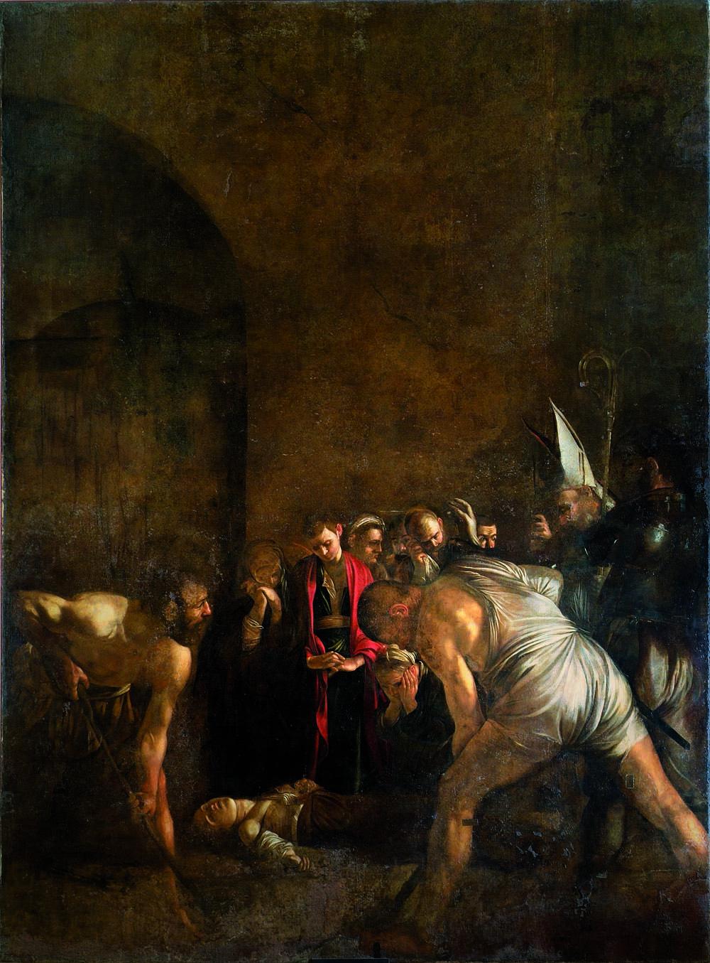 Caravaggio, Seppellimento di Santa Lucia, Siracusa, in deposito temporaneo presso Santa Lucia alla Badia