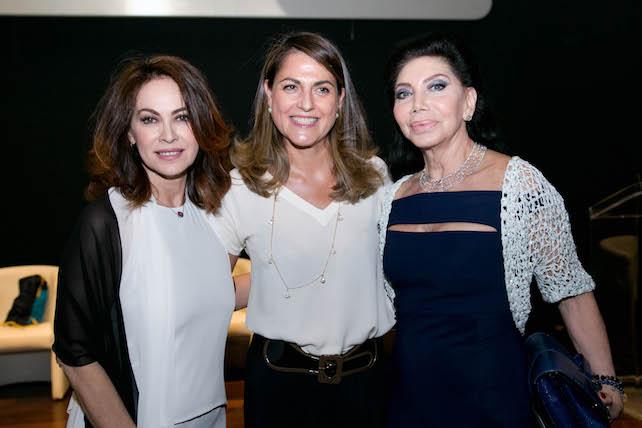Da sinistra, Elena Sofia Ricci, Maite Bulgari e Paola Mainetti