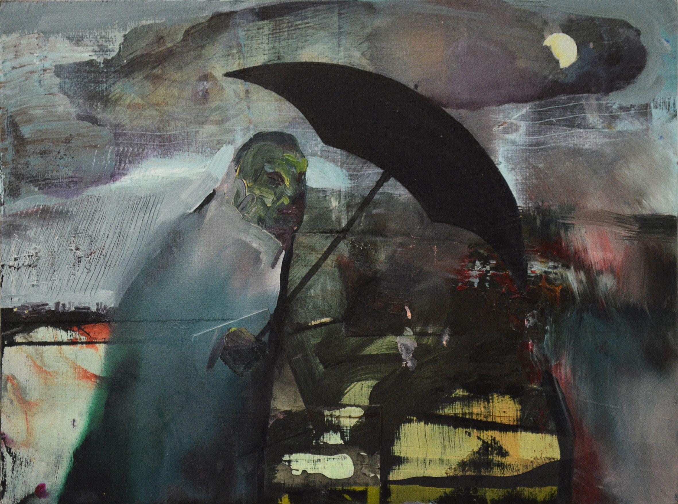 Elliot Purse, Funeral, 2014, oil on canvas, cm 30.5x41_courtesy Accesso Galleria