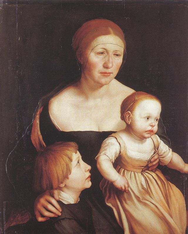 Hans Holbein, Portrait of the Artist's Family, 1528