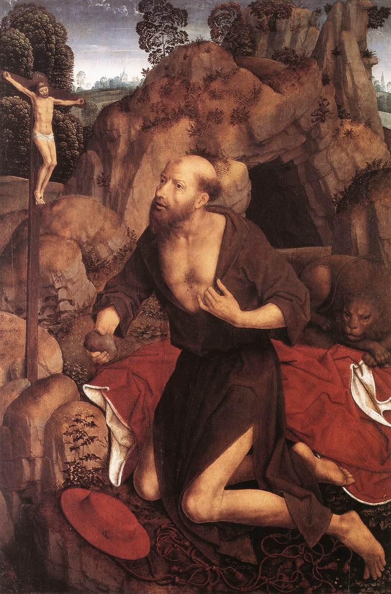 Hans Memling, The Penitence of Saint Jerome 1485-90