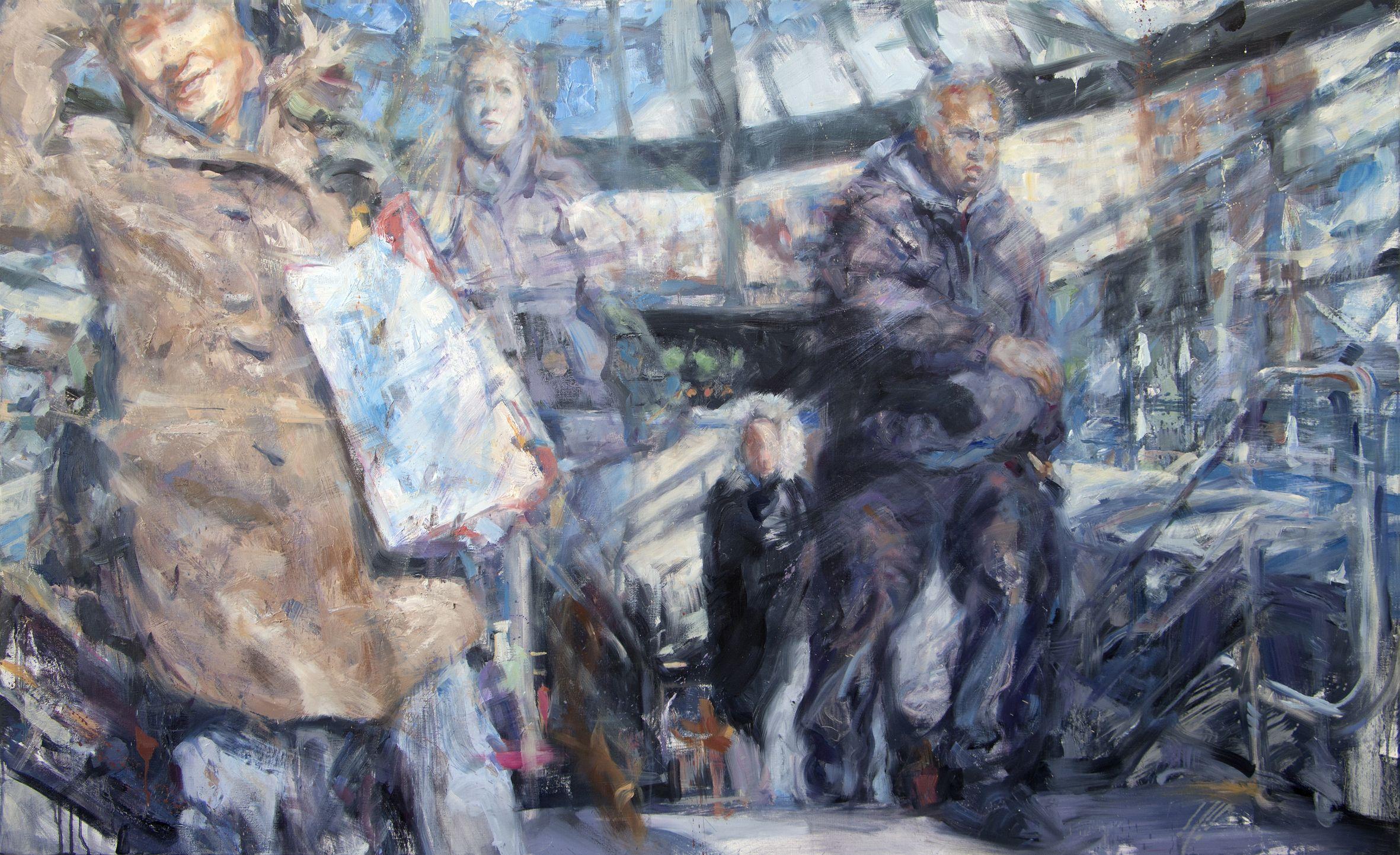 Ian Factor, Emergence, 2014, oil on canvas, cm 91.5x152_courtesy Accesso Galleria