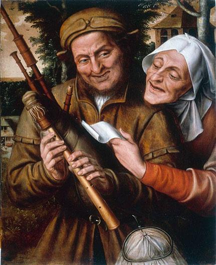 Jan Massys, A couple playing music, 1565