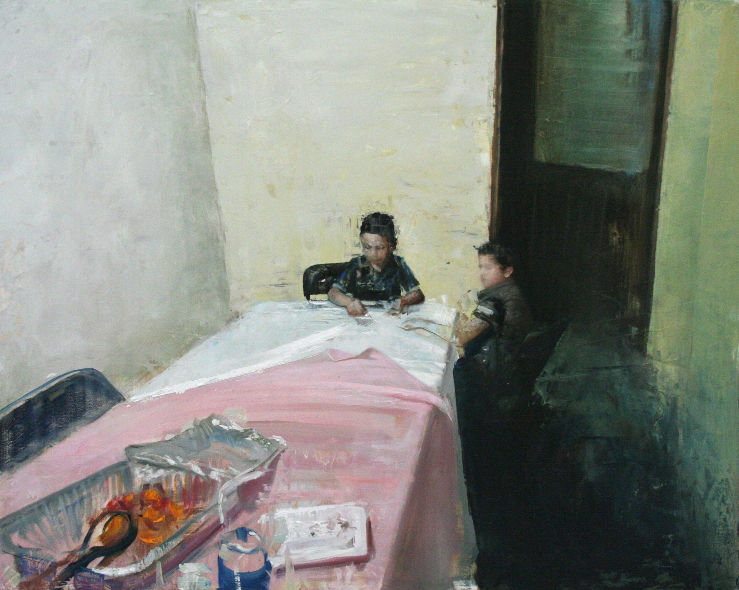 Nicolas V. Sanchez, Primos72, 2014, oil on canvas, 61x 76_courtesy Accesso Galleria