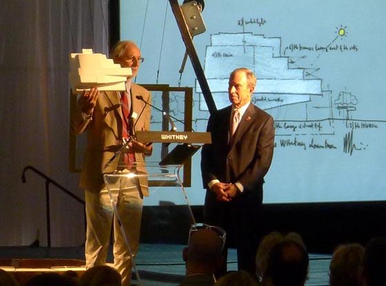 Renzo Piano e l'ex sindaco Bloomberg presentano il nuovo Whitney.