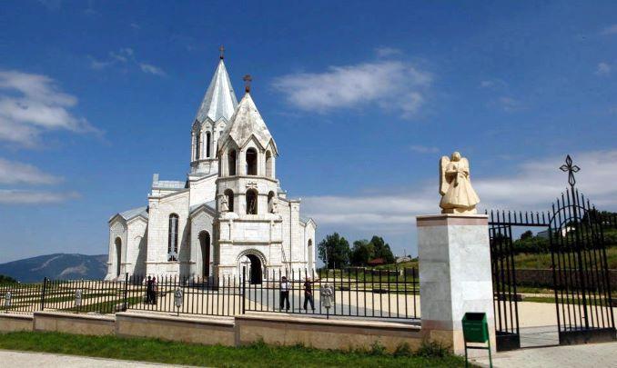 La cattedrale di Cristo san Salvatore nella città di Shusha in Nagorno Karabakh