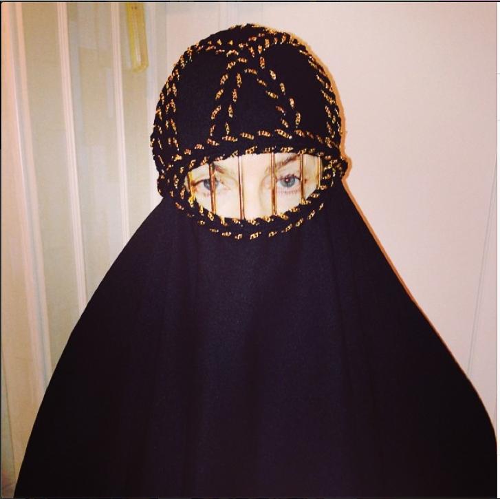 madonna burqa