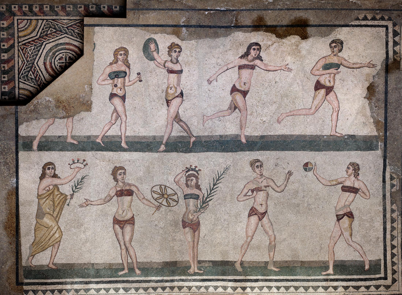 Uno dei mosaici (3.700 mq complessivi) della villa