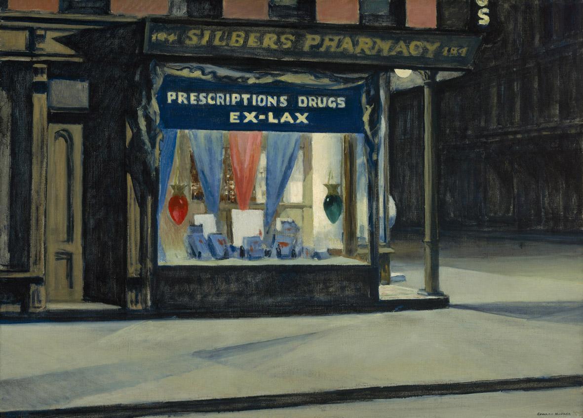 Edward Hopper, Emporio, 1927 olio su tela, cm 73,7 x 101,9 Boston, Museum of Fine Arts, © 2014 Museum of Fine Arts, Boston