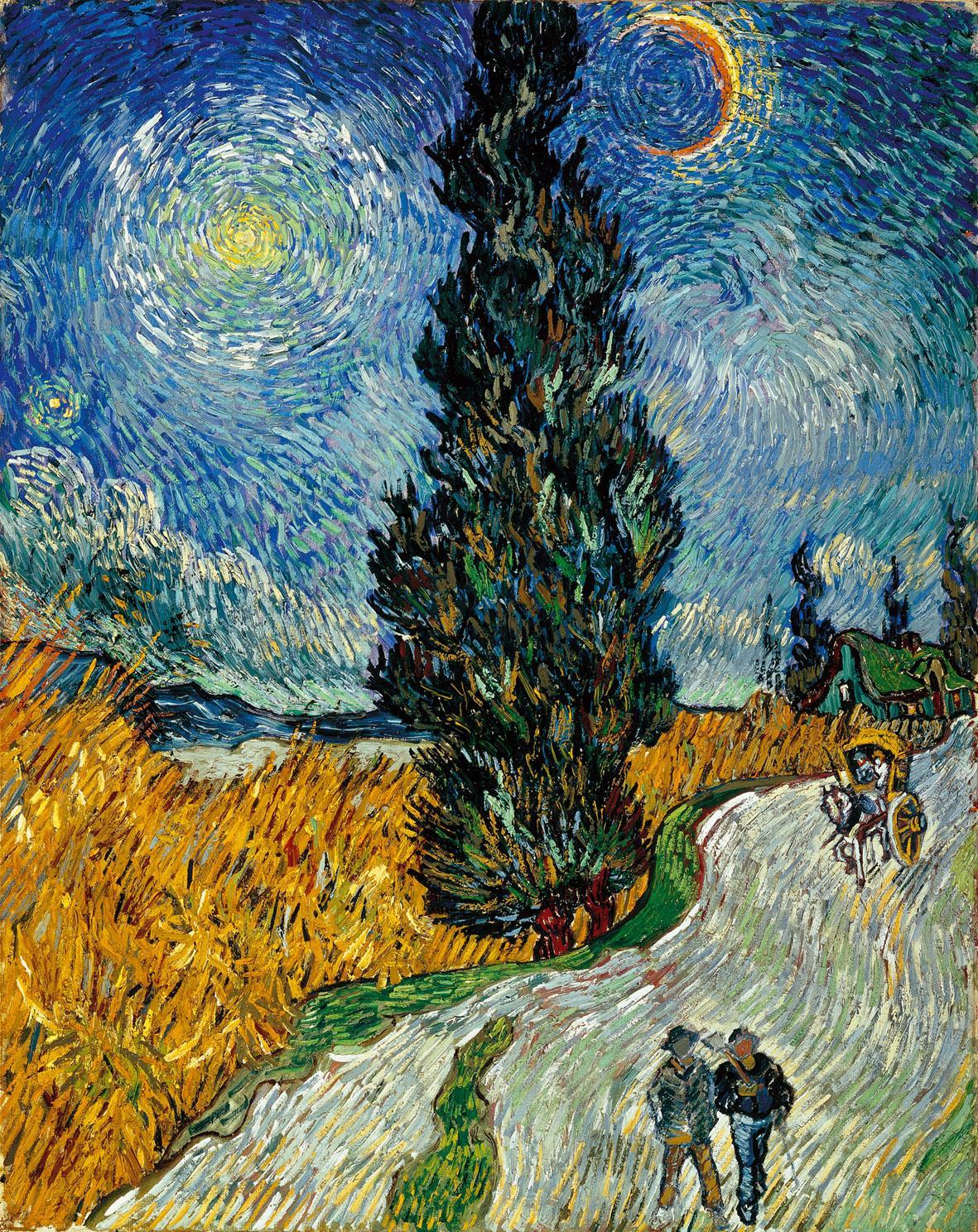 Vincent van Gogh, Sentiero di notte in Provenza, 1890 olio su tela, cm 90,6 x 72 Otterlo, Kröller-Müller Museum