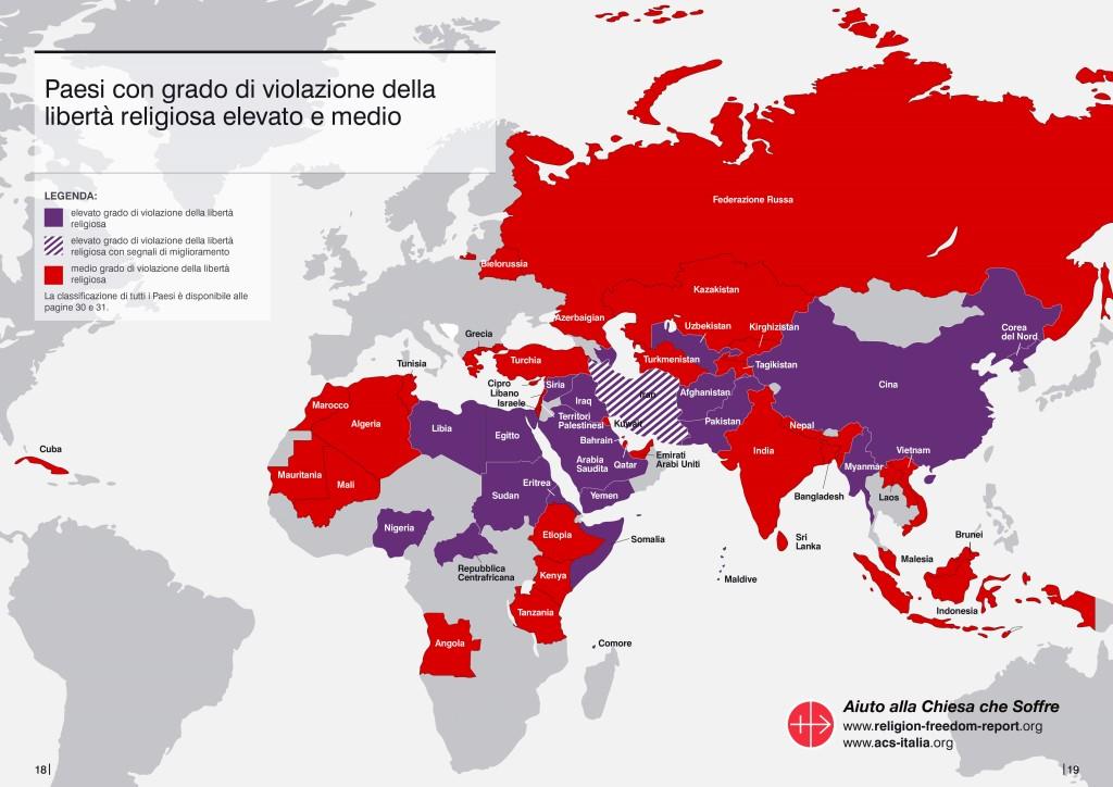 cartina liberta religiosa