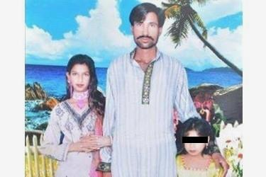 Shehzad Masih e Shama Bibi in una foto tratta da internet