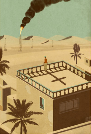 """Un'illustrazione del libro """"Una storia irachena"""""""