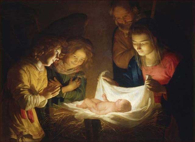 honthorst, adorazione del bambino.1