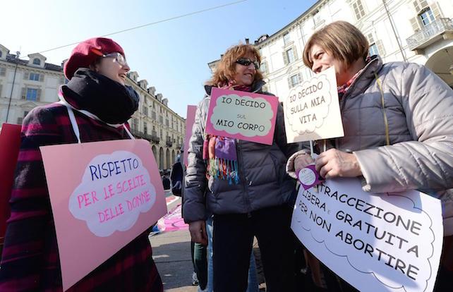 Manifestazione donne No-Tav a Torino