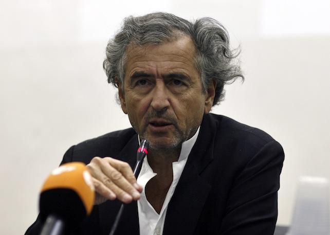 Special envoy Bernard Henri Levy holds media conference