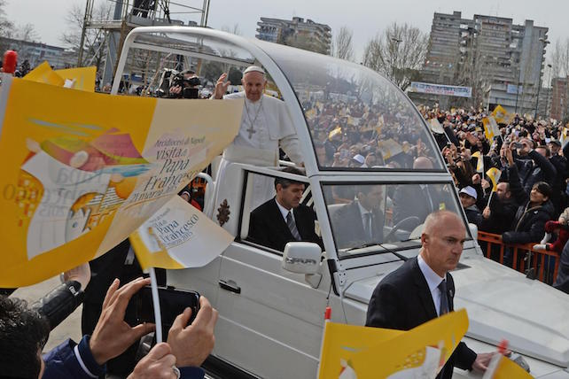 Pope Francis in Scampia