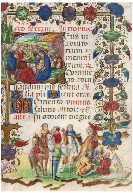 Maestro del Libro d'Ore W 323 di Baltimora e bottega del Maestro di Anna Sforza, Libro d'Ore (1440-1450 e 1495 circa) membranaceo miniato, Como, Pinacoteca Civica