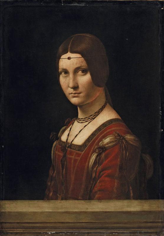 16 ID 156. Leonardo da Vinci Ritratto di dama (La Belle Ferronnière) LOUVRE