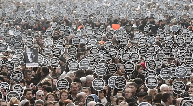 Rally for anniversary of Turkish Armenian journalist Hrant Dink's murder in Istanbul