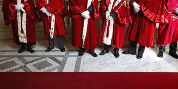 Magistrati nei corridoi della Corte di Cassazione