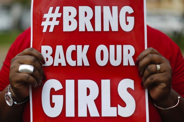 Nigerian women in Kenya protest against kidnapping of Nigerian school girls