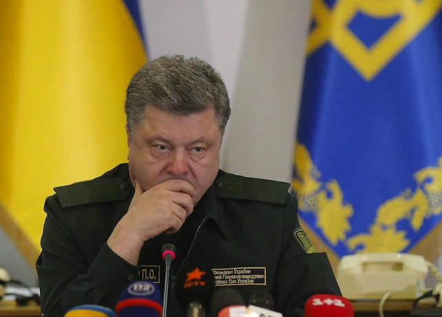 President Poroshenko gave the order to Ukrainian forces to cease fire in the eastern Ukraine.