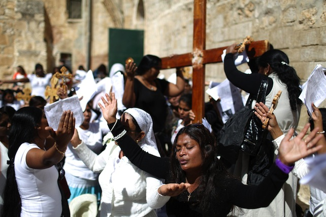 Catholics celebrate Good Friday in Jerusalem