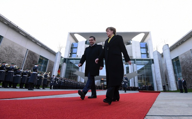 Greek PM Tsipras in Berlin