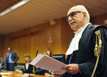 Armando Spataro, nuovo procuratore della Repubblica di Torino, durante la cerimonia di insediamento in Tribunale, Torino, 30 Giugno 2014. ANSA/ ANTONINO DI MARCO