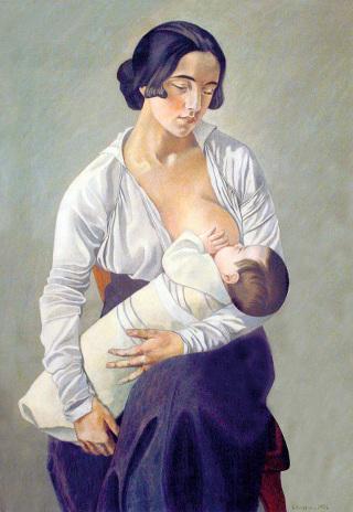 gino-severini-maternita