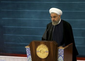 In this photo released by the official website of the office of the Iranian Presidency, Iran's President Hassan Rouhani speaks during a televised speech at the presidency compound in Tehran, Iran, Monday, May 4, 2015. Twice in recent days, including Monday's broadcast speech, Rouhani has made statements rejecting the idea of police officers enforcing morality rules, staking a clear position against hard-liners who largely oppose his outreach to the West. He said police should be responsible to enforce the law, not different interpretations of Islam. (Iranian Presidency Office via AP)