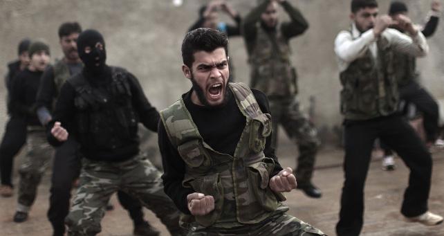 siria-ribelli-addestramento-idlib-ansa-ap