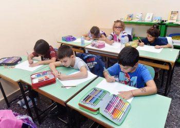 Primo giorno di lezione presso la scuola Elementare Antonelli di Torino, 14 settembre 2015 ANSA/ ALESSANDRO DI MARCO