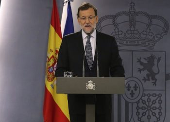 epa04998549 Spanish Prime Minister, Mariano Rajoy, speaks during a press conference held in Madrid, Spain, 27 October 2015. Rajoy said that his Government will adopt all political and legal measures needed to defend Spain's sovereignty after Catalonian pro-independence parties Junts pel Si (JxS) and the CUP announced an agreement to issue a parliamentary resolution starting a process to create a Republic in Catalonia despite any future resolution of the Constitutional Court.  EPA/BALLESTEROS