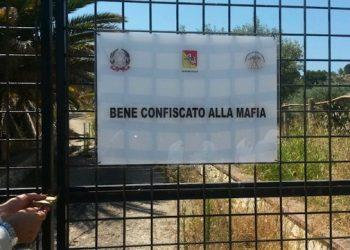 Il terreno confiscato alla mafia nel cuore del Nisseno  a Vallelunga Pratameno (Caltanissetta)  ANSA