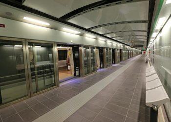 Una vettura della metropolitana, nella giornata della cerimonia di inaugurazione al pubblico delle sei nuove stazioni della metro C, Mirti, Gardenie, Teano, Malatesta, Pigneto e Lodi, Roma, 29 giugno 2015. ANSA/ ALESSANDRO DI MEO