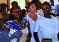 Il medico italiano Rita Fossaceca durante una della sue tante missioni in Africa. La donna Ë stata uccisa in Kenya e altri tre connazionali sono rimasti feriti, 29 novembre 2015. ANSA