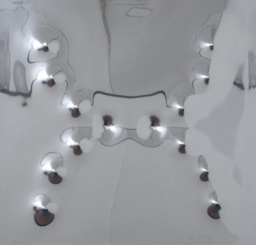 Brescianini, 14 spari di fucile ca. 12, 2015, inox, cm 125x125